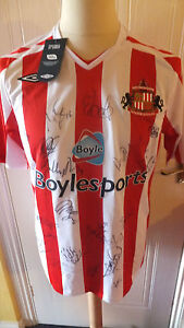 2007-2008 Sunderland AFC football Shirt Signed by squad of 25 with COA
