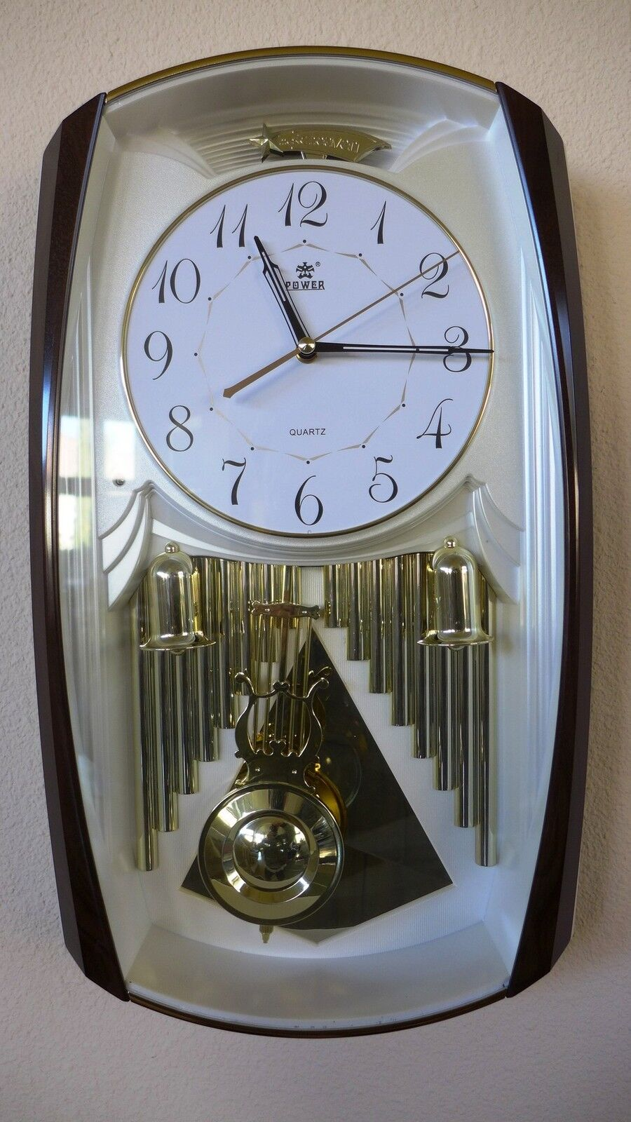 Westminster Chime Pendulum Wall Clock-6122 Gold