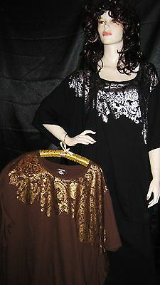 Liz & Me 4x Brown & Gold Or 6x Black & Silver Metallic Lacy Scrolls