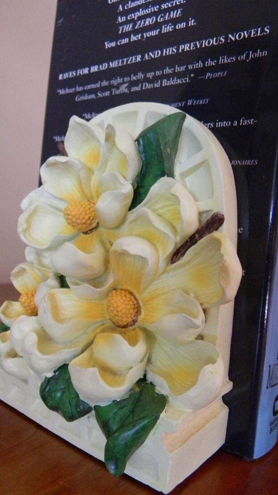 Door Stopper - Doorstops - Painted Magnolia Flowers - Painted Poly Resin