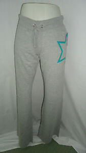 Rue21 Gray, Green, Silver Star Rhinestone Decor Sweatpants Sz Small 4788 G26