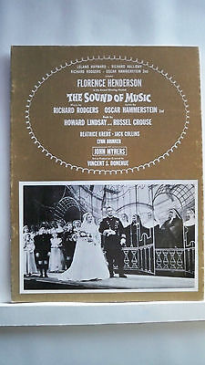 SOUND OF MUSIC Souvenir Program FLORENCE HENDERSON / JOHN MYHERS Tour 1961