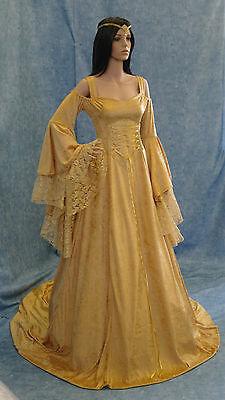 Handfasting medieval wedding dress LOTR Renaissance fantasy gown custom made