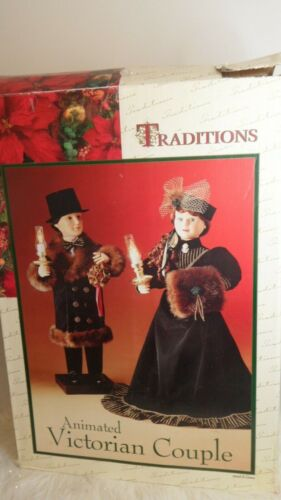 "TRADITIONS ANIMATED 26"" VICTORIAN COUPLE"