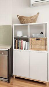 IKEA EKET White Cabinet Shelves Storage basket