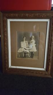 1900s framed photograph