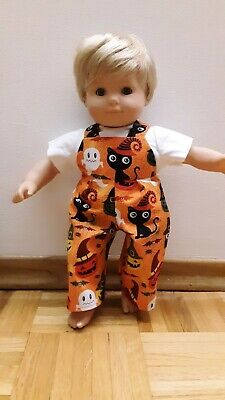 Halloween Customes For Boys (Custom For American Girl Bitty Baby Twin Boy Halloween Overalls Set doll)