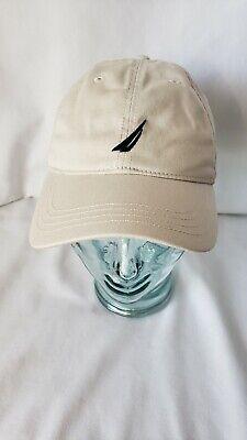 NAUTICA ~ Khaki Tan Men's Adjustable One-Size Hat Baseball Cap Embroidered Logo