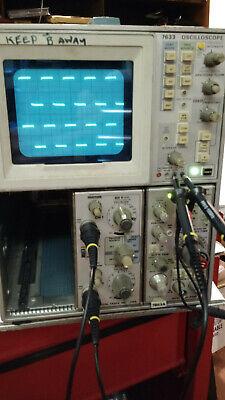 Working Tektronix 7633 100 Mhz Storage Oscilloscope W 7a18 7b53a