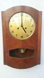Vintage Antique German Doldonia Pendulum Wall Clock Regulator With Triple Chimes