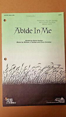 Lot of 14 Abide in Me Gloria William Gaither Christian 1980 SATB Choral Octavo