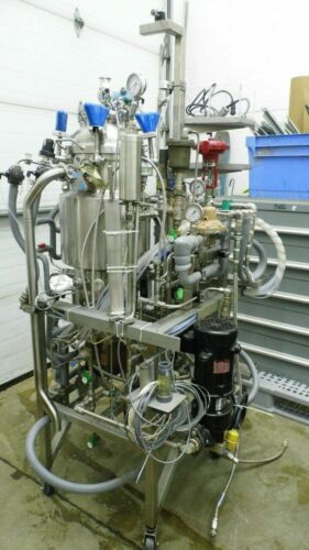 BRAUN PRECISION STAINLESS 30L SS JACKETED FERMENTER VESSEL BIOREACTOR SYSTEM #2
