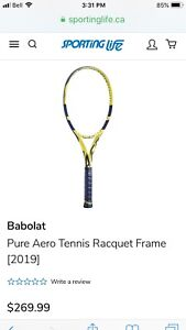 Babolat and Wilson tennis racquets