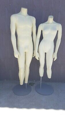Female And Male Full Body Realistic Mannequin . No Head