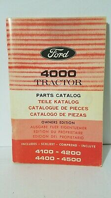 Ford 4000 4100 4200 4400 4500 Tractor Original Parts Catalog Manual