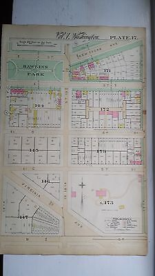 1892 Map of NW DC-  Rawlins Park Area - Rare large property specific detail