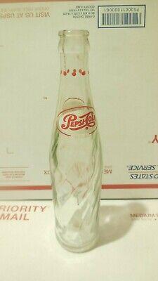 Vintage 1960 Pepsi Cola Old 10 oz Clear Swirl Glass Soda Pop Bottle  Old Pepsi Bottles