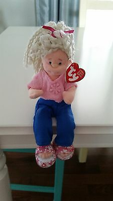 TY baby beanie boppers sweet sally girl doll bendable flexible