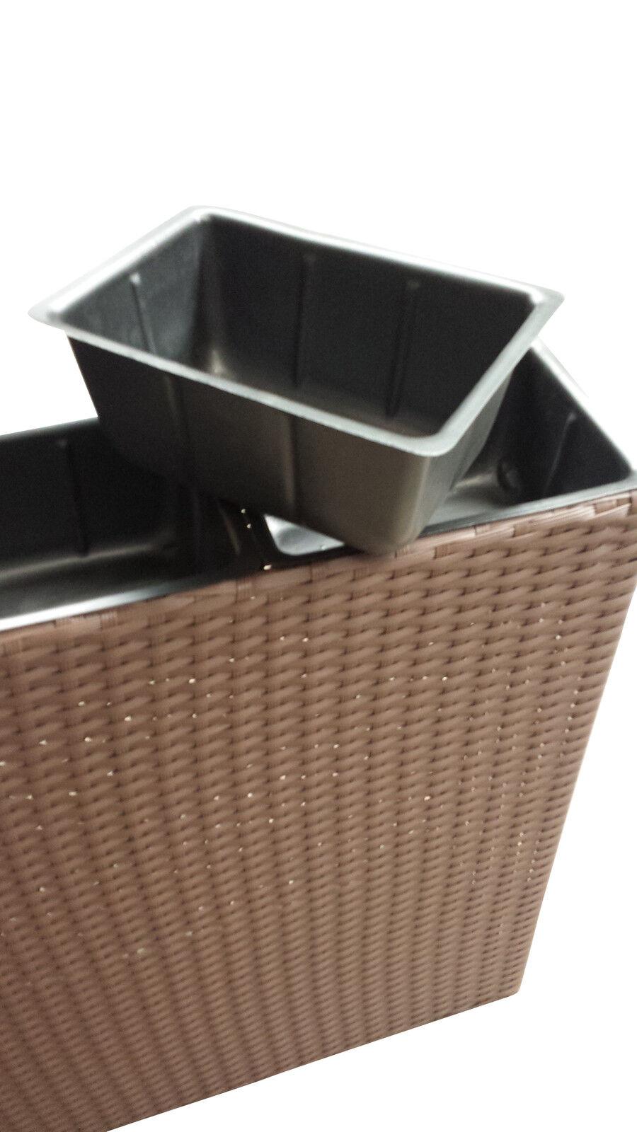 blumenk bel schwarz pflanzk bel raumtrenner sichtschutz pflanzgef polyrattan eur 67 45. Black Bedroom Furniture Sets. Home Design Ideas