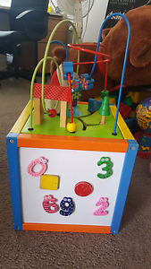 Wooden toddler activity centre cube Hammond Park Cockburn Area Preview