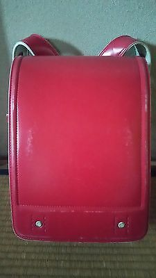 Used red RANDOSERU (school backpack) [excellent] from Japan Free Shipping !!