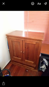 Wood cabinet Campbelltown Campbelltown Area Preview