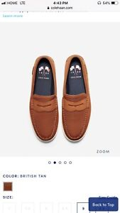 Brand New Colehaan Mens leather Loafers
