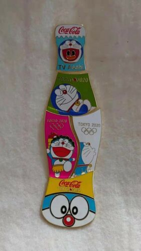 Fatasy pins, TOKYO 2020  DORAEMON COKE puzzle 5 pin set
