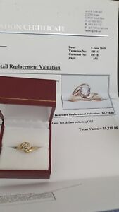 Authentic 18ct yellow gold solitaire ring