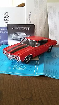 FRANKLIN MINT 1970 CHEVELLE SS454..1:24..RARE RED..