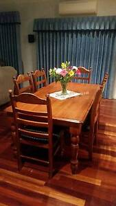 7 Piece timber dining setting Highton Geelong City Preview