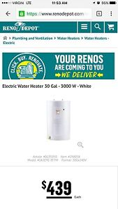 GIANT Electric Water Heater 30 Gal 3000 W