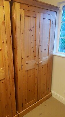 Pine double wardrobe, used but excellent condition