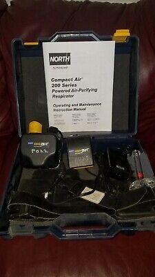 Honeywell North Ca201d Papr Respirator Systemwith Hose Hood Hard Hat Etc