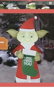 Yoda 5ft.STAR WARS CHRISTMAS Candy LED AIRBLOWN INFLATABLE Disney 2018 + lights!