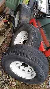 Landcruiser/patrol rims tyres Coromandel East Morphett Vale Area Preview
