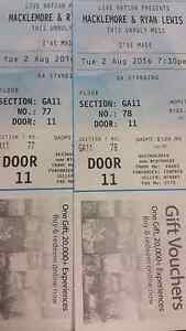 2x Macklemore & Ryan Lewis Tickets Bundall Gold Coast City Preview