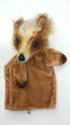 Vintage Hand Puppet Fox Plush Stuffed Head