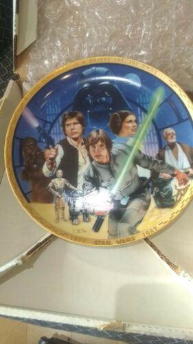 Hamilton Collection Star Wars 10th Anniversary Plates NIB w/ COA 1987