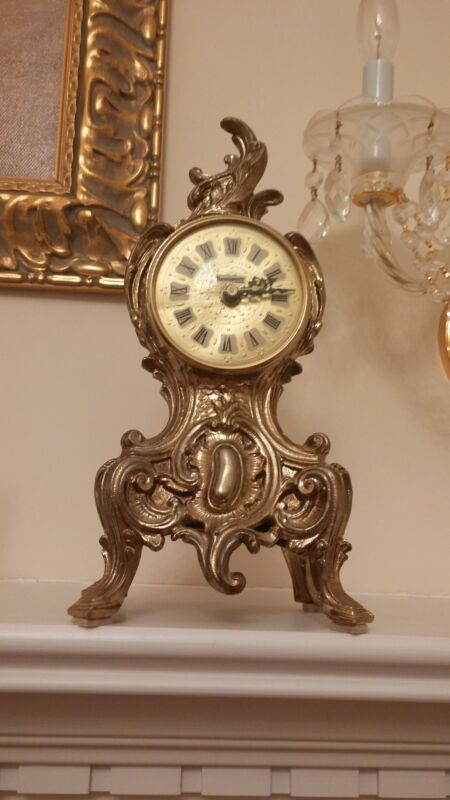 Clock Victorian Style Home Decor for table or self w/ Bronze Finish
