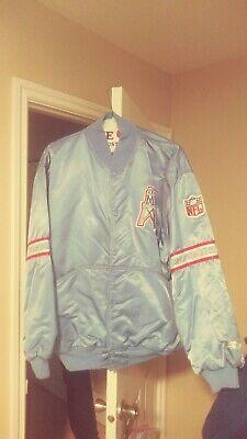 da2fc492c Vintage Houston Oilers Sideline Throwback Satin Starter Jacket XL! Rare