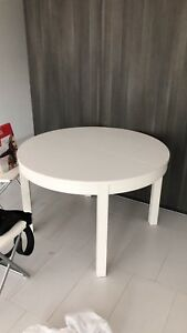 Queen size bed and mattress  with large round table