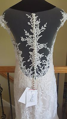 New w/ Tags! $1550 Maggie Sottero Noelle Ivory Nude Lace Wedding Dress Size 12
