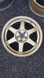 "Genuine set STI Volk Rays TE37 s201 16"" 5x100 jdm wheels rims Castle Hill The Hills District Preview"