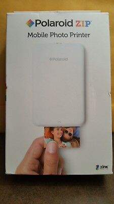 POLAROID ZIP INSTANT MOBILE PHOTO PRINTER (WHITE) WITH ZINK ZERO INK BRAND NEW