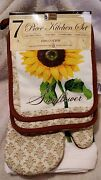 Sunflower Oven Mitt