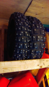 Studded motorcycle tires