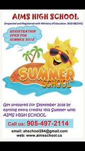 Credit Courses for Summer