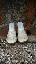 Jenneldas Crystal Champagne Slip On Jelly Shoes Size 10 or EUR 41 Ballina Area Preview