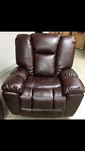 New Brown AirLeather glider recliner baseball stitch only $900